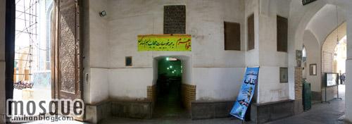 عکس زاویه باز از کریاس مسجد جامع یزد