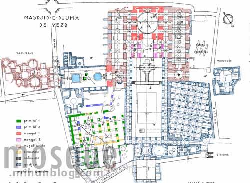 نقشه مسجد جامع یزد