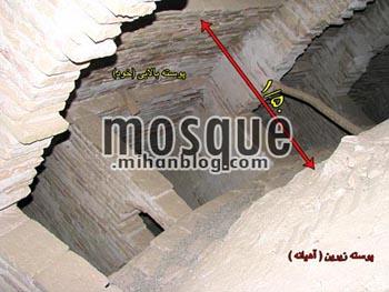بین دو پوسته گنبد مسجد جامع یزد