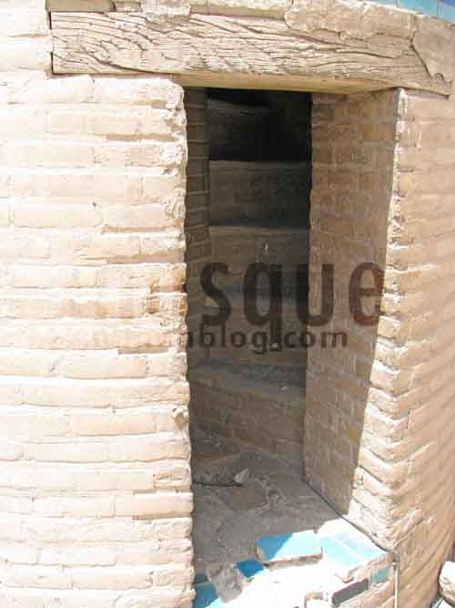 ورودی راه پله مناره مسجد جامع یزد