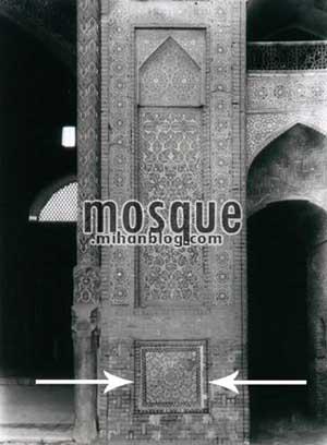 عکس قدیمی ورودی ایوان مسجد جامع یزد