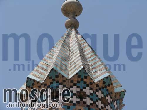 بالاترین قسمت مناره مسجد جامع یزد