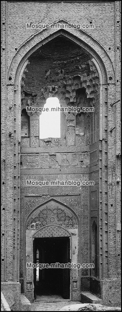 عکس قدیمی سردر مسجد جامع یزد